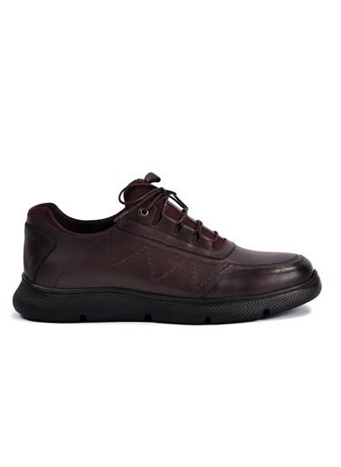 Dr.Flexer 390006 Siyah Hakiki Deri Casual Erkek Ayakkabı Kahve